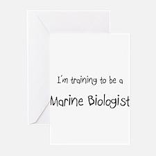 I'm training to be a Marine Biologist Greeting Car