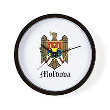 Moldovan Coat of Arms Seal Wall Clock
