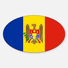 Moldova Flag Oval Decal