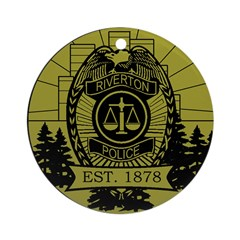 Riverton Police Ornament (Round)