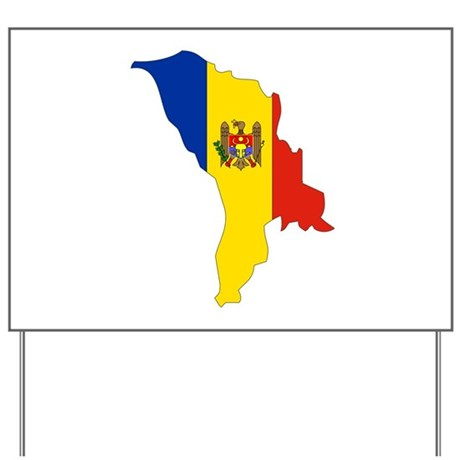 Moldova Flag Map Yard Sign