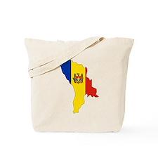 Moldova Flag Map Tote Bag