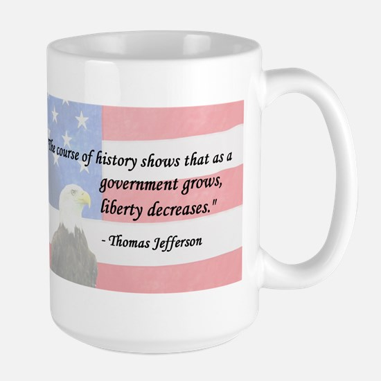 Gov't Grows, Liberty Decrease Large Mug