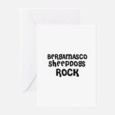 BERGAMASCO SHEEPDOGS ROCK Greeting Cards (Package