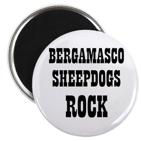 """BERGAMASCO SHEEPDOGS ROCK 2.25"""" Magnet (10 pack)"""