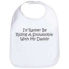 Snowmobile With My Daddy Bib