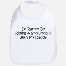 Snowmobile With My Daddy Bib