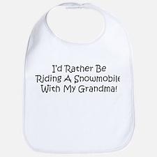Snowmobile With My Grandma Bib