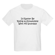 Snowmobile With My Grandpa T-Shirt