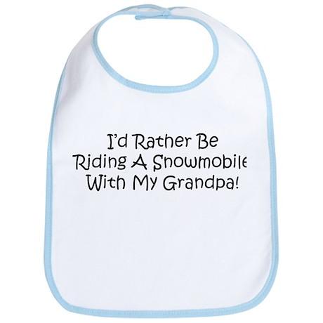 Snowmobile With My Grandpa Bib