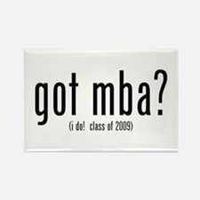 got mba? (i do! class of 2009) Rectangle Magnet