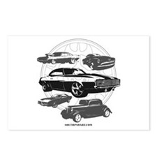 Unique Muscle car Postcards (Package of 8)