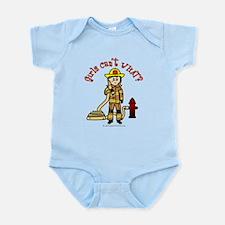 Blonde Firefighter Girl Infant Bodysuit