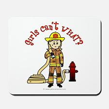 Blonde Firefighter Girl Mousepad