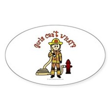 Blonde Firefighter Girl Decal