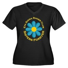 Rhoer Club Women's Plus Size V-Neck Dark T-Shirt
