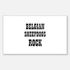 BELGIAN SHEEPDOGS ROCK Rectangle Decal