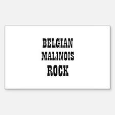 BELGIAN MALINOIS ROCK Rectangle Decal