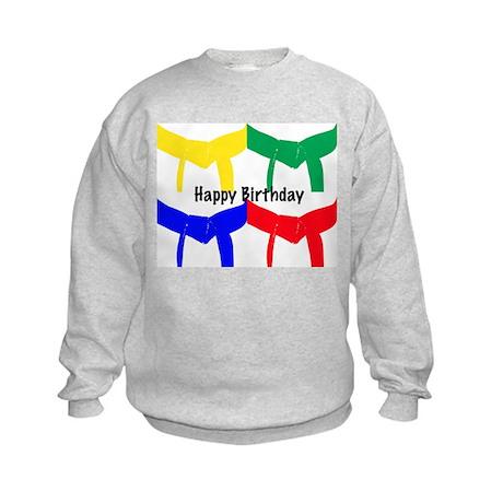 Martial Arts Happy Birthday Kids Sweatshirt
