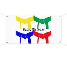 Martial Arts Happy Birthday Banner
