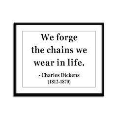 Charles Dickens 11 Framed Panel Print