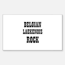 BELGIAN LAEKENOIS ROCK Rectangle Decal
