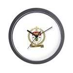 DESRUISSEAUX Family Crest Wall Clock