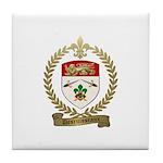 DESRUISSEAUX Family Crest Tile Coaster