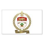 DESRUISSEAUX Family Crest Rectangle Sticker 50 pk