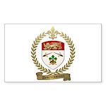 DESRUISSEAUX Family Crest Rectangle Sticker 10 pk