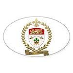 DESRUISSEAUX Family Crest Oval Sticker (10 pk)