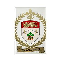DESRUISSEAUX Family Crest Rectangle Magnet (100 pa