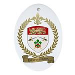 DESRUISSEAUX Family Crest Oval Ornament