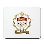 DESRUISSEAUX Family Crest Mousepad