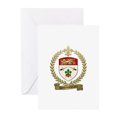 DESRUISSEAUX Family Crest Greeting Cards (Pk of 20
