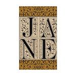 Jane Austen JANE Rectangle Sticker