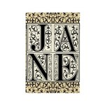 Jane Austen JANE Rectangle Magnet