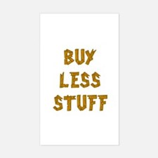 Buy Less Rectangle Decal