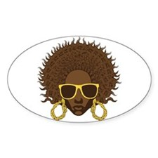 Afro Cool Oval Decal
