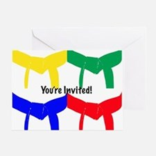 Martial Arts Invitation Card Blank