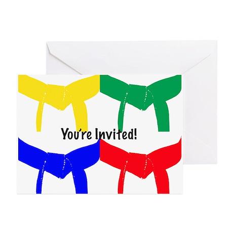Martial Arts Invitation Cards Blank 10PK