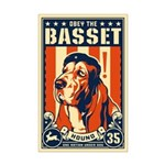 Obey the Basset Hound! USA Mini Poster