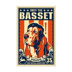 Obey the Basset Hound! USA Posters