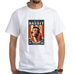Obey the Basset Hound! USA White T-Shirt