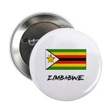 """Zimbabwe Flag 2.25"""" Button"""