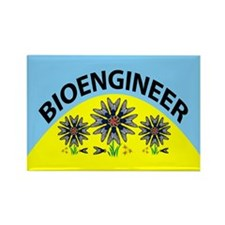Bioengineer Illusion Rectangle Magnet
