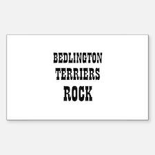 BEDLINGTON TERRIERS ROCK Rectangle Decal