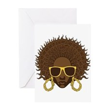 Afro Cool Greeting Card