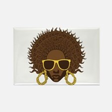 Afro Cool Rectangle Magnet