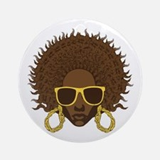 Afro Cool Ornament (Round)